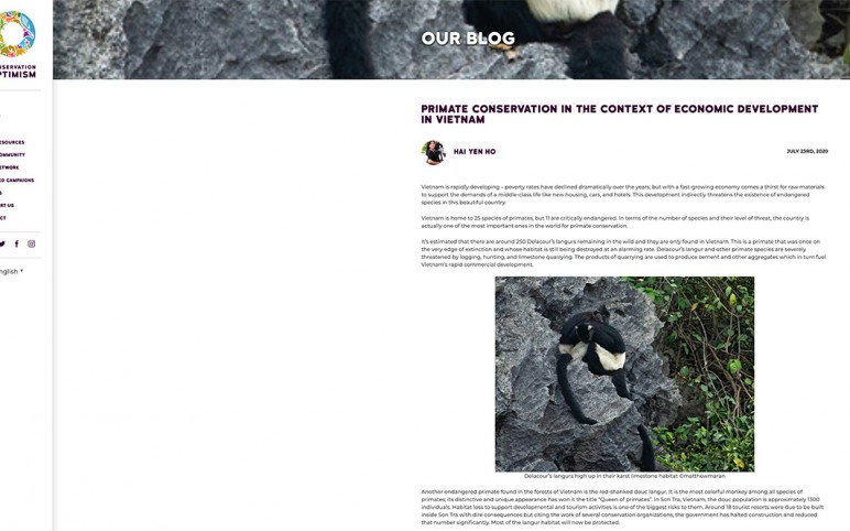 primate film featured on the Conservation Optimism Blog